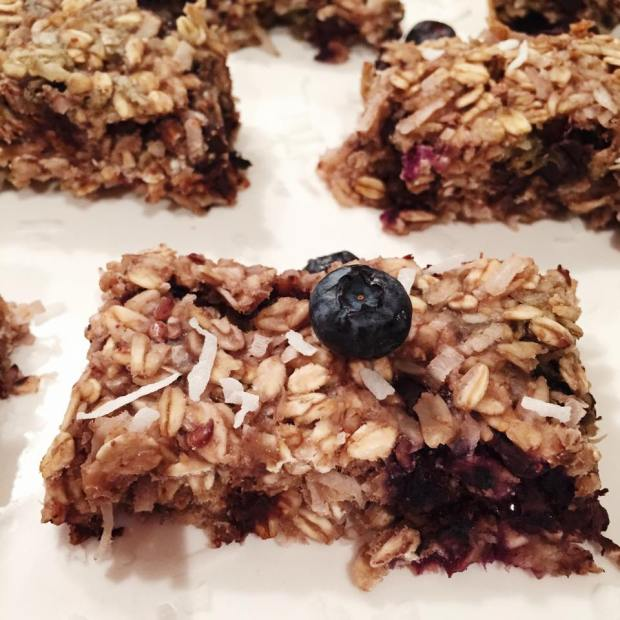 Blueberry Coconut Breakfast Bars