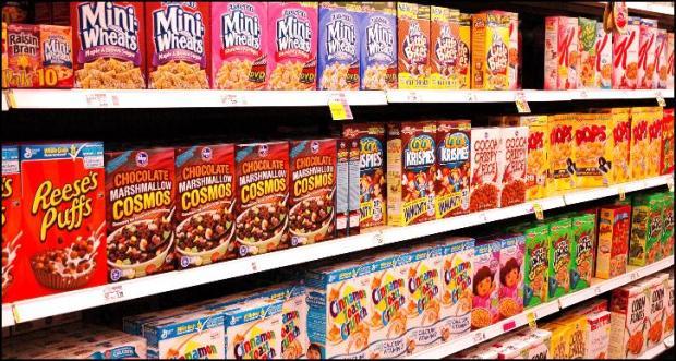 breakfast cereal isle