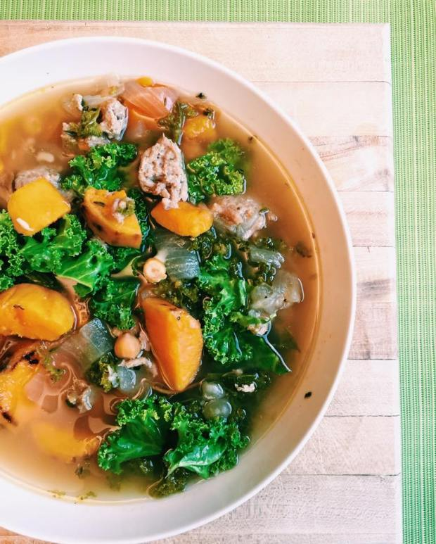 Sweet Potato Kale Chicken soup